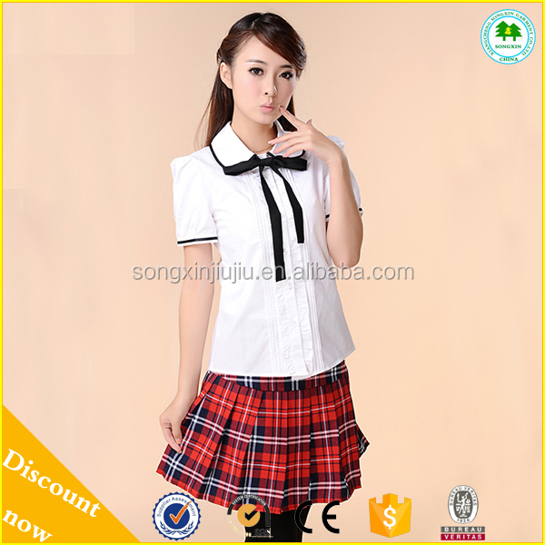 New Design Sexy School Girl Dress, Japanese School Uniform for Students