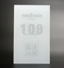 Pure LED Crystal Glass Touch Panel Hotel Door Sign Plate