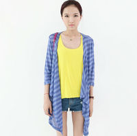 THE NEW SPRING AND SUMMER 2104 SEVEN MINUTES SLEEVE AIR CONDITIONING UNLINED UPPER GARMENT MODAL LONG CAPE CARDIGAN