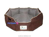 Elegant pet product plaid dog bed