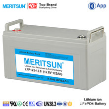 LiFePO4 12.8V 12V 125Ah Li ion Rechargeable Lithium ion Battery Pack