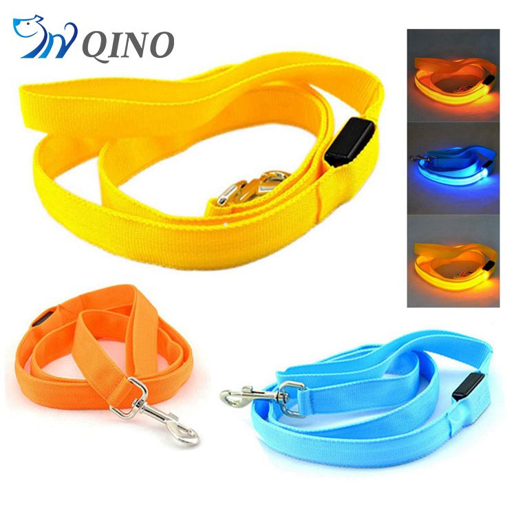 QN-A-2168 novelty pet product led dog collar leash custom print logo pet collars & leashes