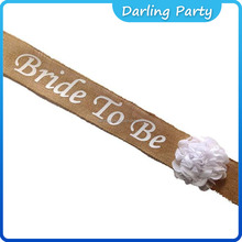 new design Bride To Be sash with flowers