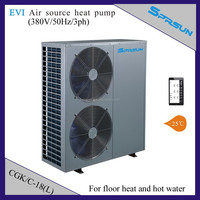 EVI heat pump for house heating (meanwhile hot water) 18KW intelligent controlling system CGK/C-18(L)