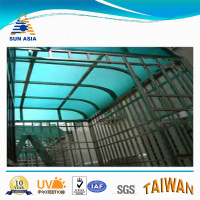 UV Blue Green Embossed Polycarbonate Roof