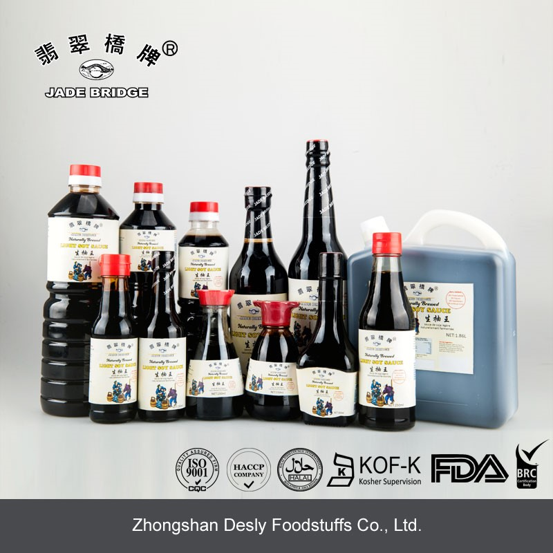 Chinese Superior Light Soy Sauce No Preservatives pet Bottle Soya Sauce