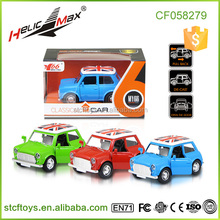 Kid Play Toy Alloy Metal Classic Cars for Sale with Pull Back Open Car Door Function