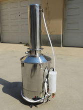 Stainless steel distilled water apparatus
