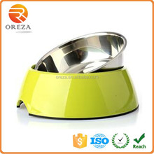 High Quality Non-slip malemine Stainless Steel Wholesale Dog Bowl Rubber Ring