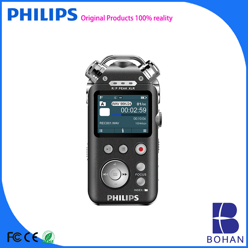 PHILIPS 16GB USB2.0 Peak Valur 2 inch Colorful Display PCM Recording Digital Recorder Voice Activated