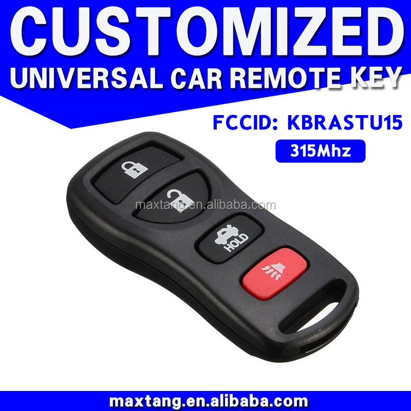 Alibaba Online Car Spare Part Shop 4 Button Fake Car Key With Chip 315Mhz Car Key Accessory MTF-101824
