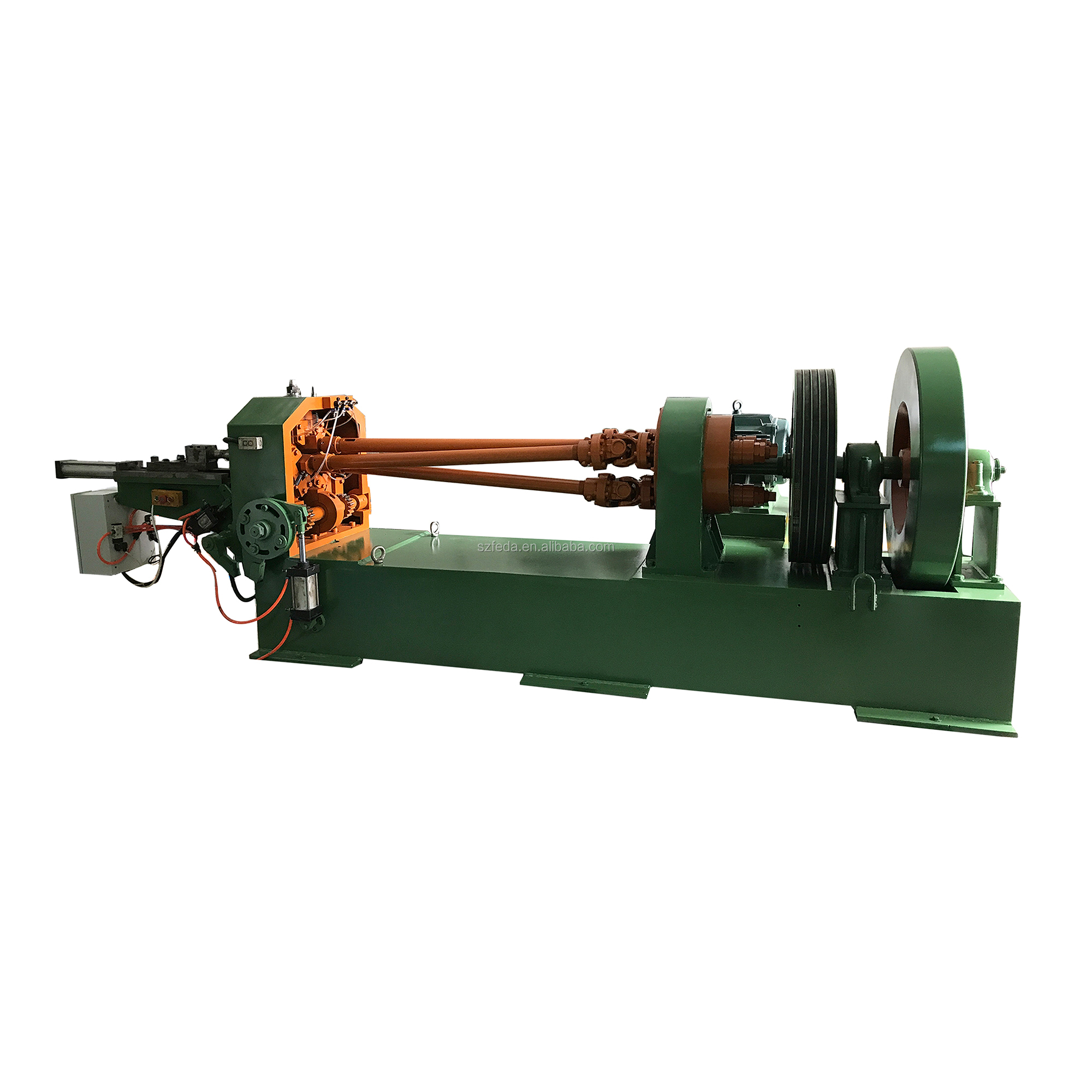 FEDA bolt threading machine rebar thread rolling machine hot rolling heavy duty thread making machine