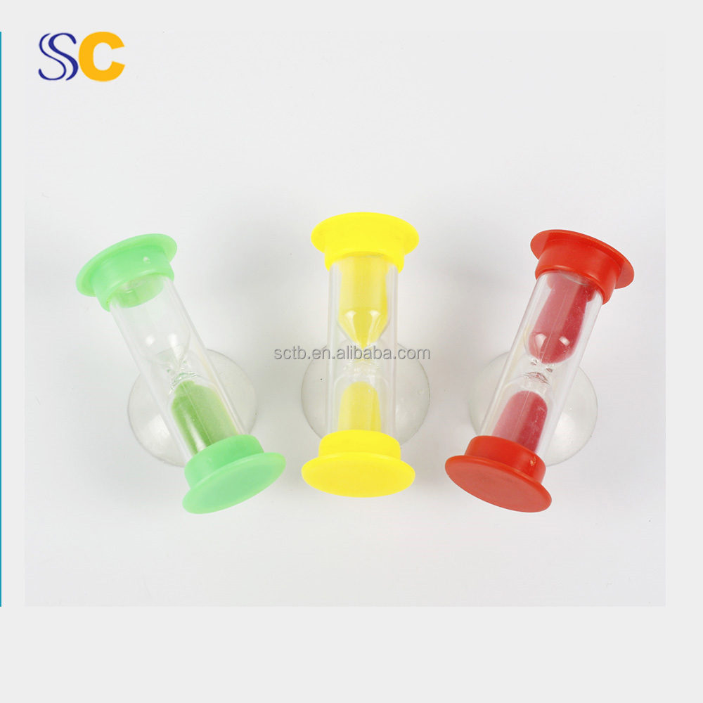 Plastic waterproof bathroom suction 2 minutes sand timer