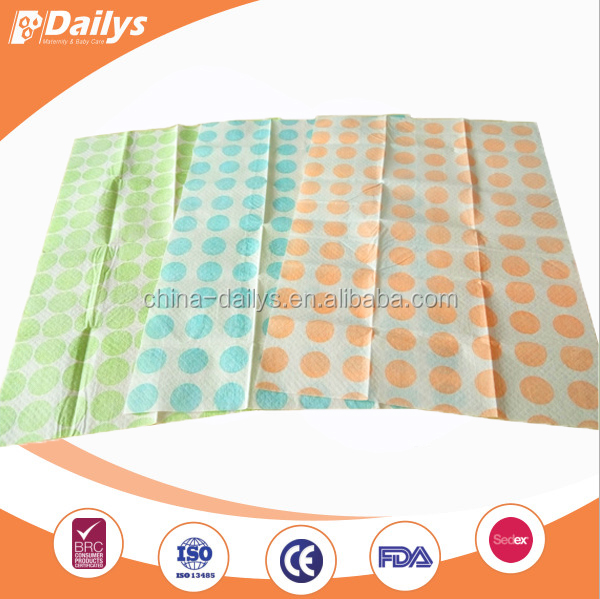 25pcs box package disposable customized baby diaper changing mats with colors