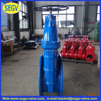 ansi/bs/din non rising stem ductile iron cast iron soft seal gate valves