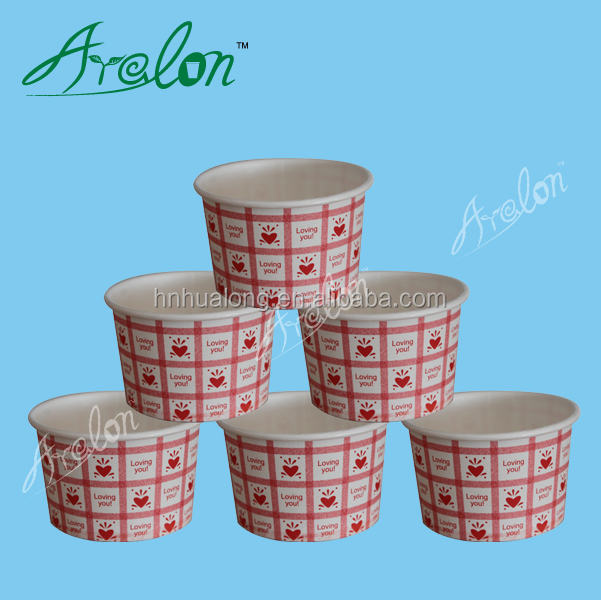 Ice cream disposable paper cup