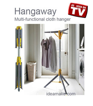 Cloth Hanger Collapsable Clothes Hangers & Extension Pole