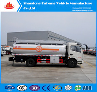 Daiyang high quality competitive price 4x2 5 M3 cbm 2 axle mini tanker truck sale