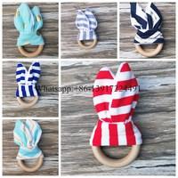 In Stock ! Baby wooden Teething Ring - grey Houndstooth Organic Wood teething toy