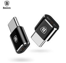 Baseus Charger Plug Adapter Converter Micro USB to Type-C ( Female to Male ) Micro USB to USB-C Plug Adapter, Type C Adapter