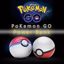 2016 Hot Sale:For Pokemon Go Ball Power Bank 10000mA Chager With LED Light For Pokemon Go AR Games