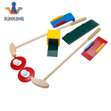 plan colorful wooden mini golf set for kids