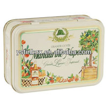 2013 wholesale metal small tin boxes with hinged lid