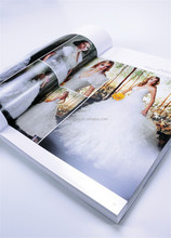 Fancy custom made A4 folded leaflet magazine printing new products