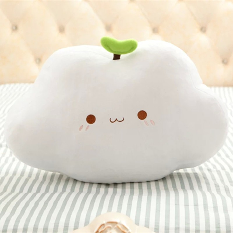 Custom shaped PP cotton cute white cloud plush toy for naping