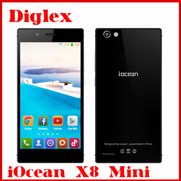 Original iOcean X8 Mini Smartphone MTK6582 Quad Core Android 4.4 Mobile Phone 5.0 inch 1GB RAM 32GB ROM 8MP Dual Sim 3G Phone