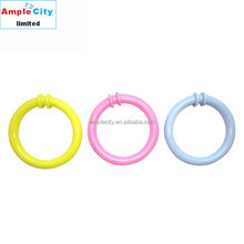 Wholesale Round Plastic Ring Snap Link Baby Education Game Toy