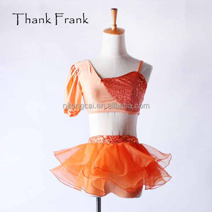 elegant Girls 2-Piece Irregular sequin lyrical dance costume