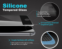 China Manufacturer 8H0.33mm Thickness cell phone Full Coverage Silicone Frame High Clear screen protector for iPhone 6 s