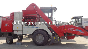 wheel type self propelled corn harvester with peeler
