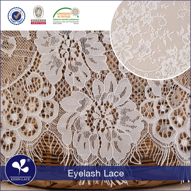 2017 new design Nylon spandex eyelash african swiss tulle french lace fabric