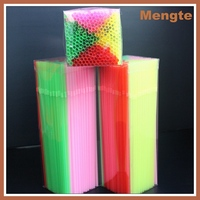 Mengte Futian Bar Accessories Type Neon Plastic Bendable Straw
