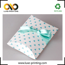 Printable triangle pattern white matte laminated paper pillow box