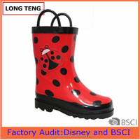 2016 new design lovely rubber rain boots wholesale