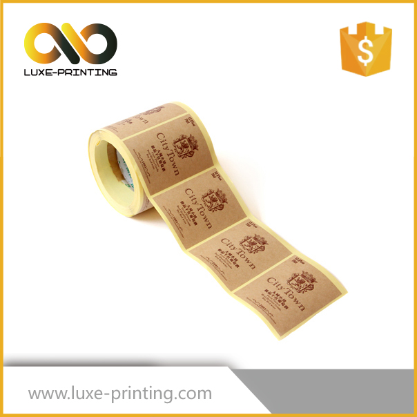 Custom garment paper label stickers in roll or heat transfer printing