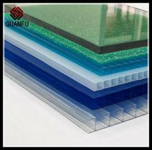 green color polycarbonate PC solid sheet general polycarbonate pc hollow specification for sheet rolling machine panel