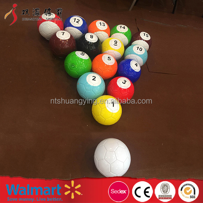 mini snooker ball set cheap wholesale inflatable football billiard soccer ball