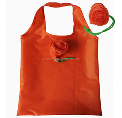 Integrated rose flower pouch design recycle polyester environment bag