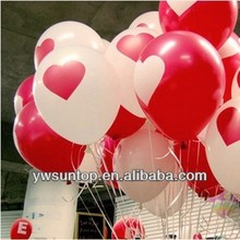 Red Heart 12-inch latex balloons printed Korea Creative Wedding Party Supplies