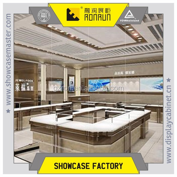 Guangzhou used glass display cases, jewelry showcases for mall kiosk glass retail store