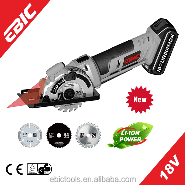 18V Li-ion cordless electric motor for circular saw with blade