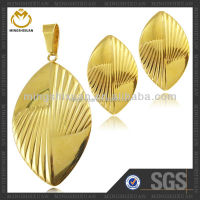 Hot Sale Dubai Jewelry Good Quality Inventory Gold Filled Jewelry Set