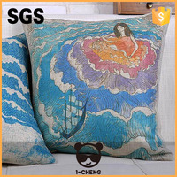 fashion patchwork printing velvet cushion cover for home decoration