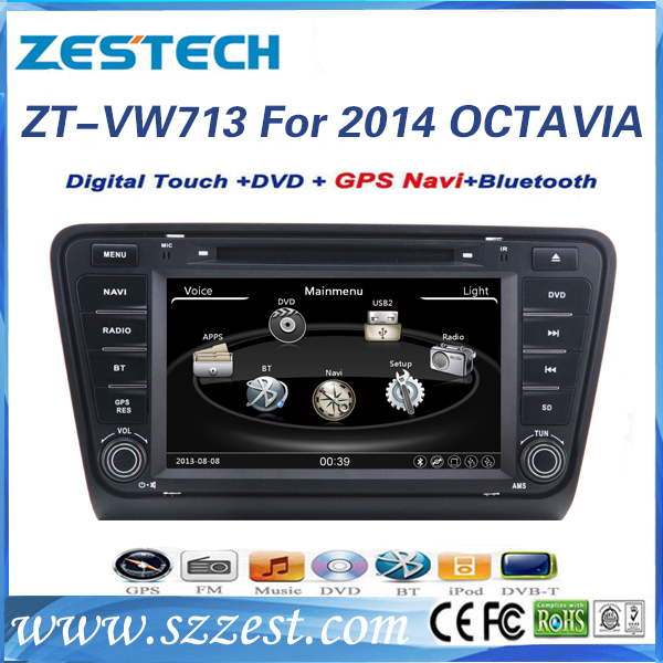 for skoda octavia dvd player navi with bluetooth/phonebook/swc/usb/rds
