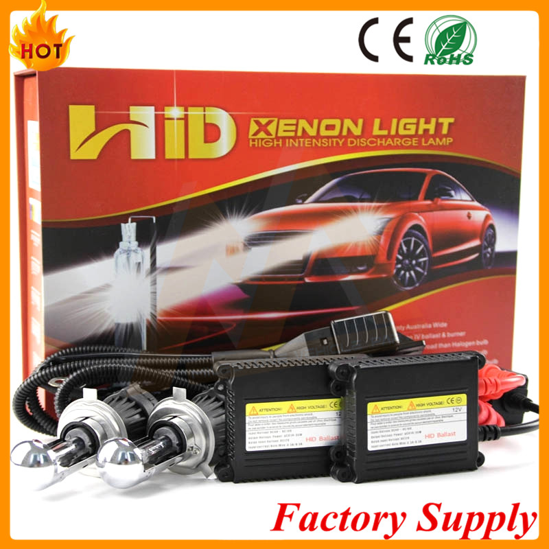 wholesale factory price ac 12v 35w 55w 4300k 3800lm hid xenon headlight kit h4 h7