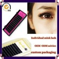Milkyway hot sell all size J B C D curl handmade thick 100% real mink individual eyelash extensions,mink lash extensions
